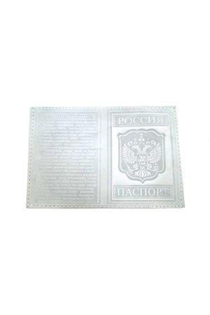 Обложка для паспорта с гимном белая
