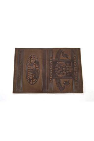 Обложка для паспорта обычная т. коричневая