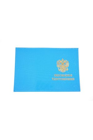 Обложка для пенсионного удостоверения голубая репт