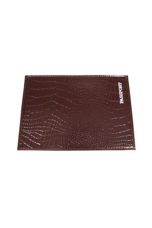 Обложка для паспорта HJ рептилия коричневая