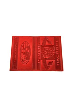 Обложка для паспорта обычная красная